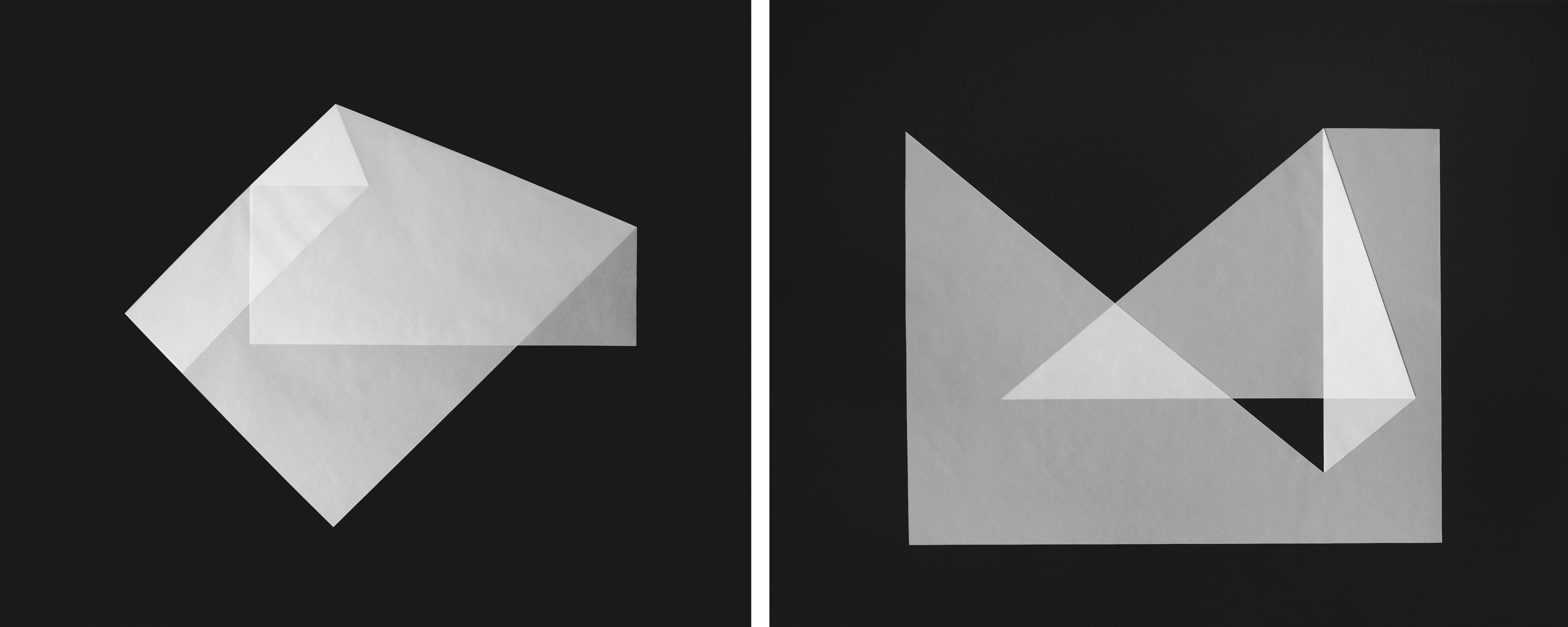 8. a/b motiv, je 50 x 60 cm, pergament gefaltet