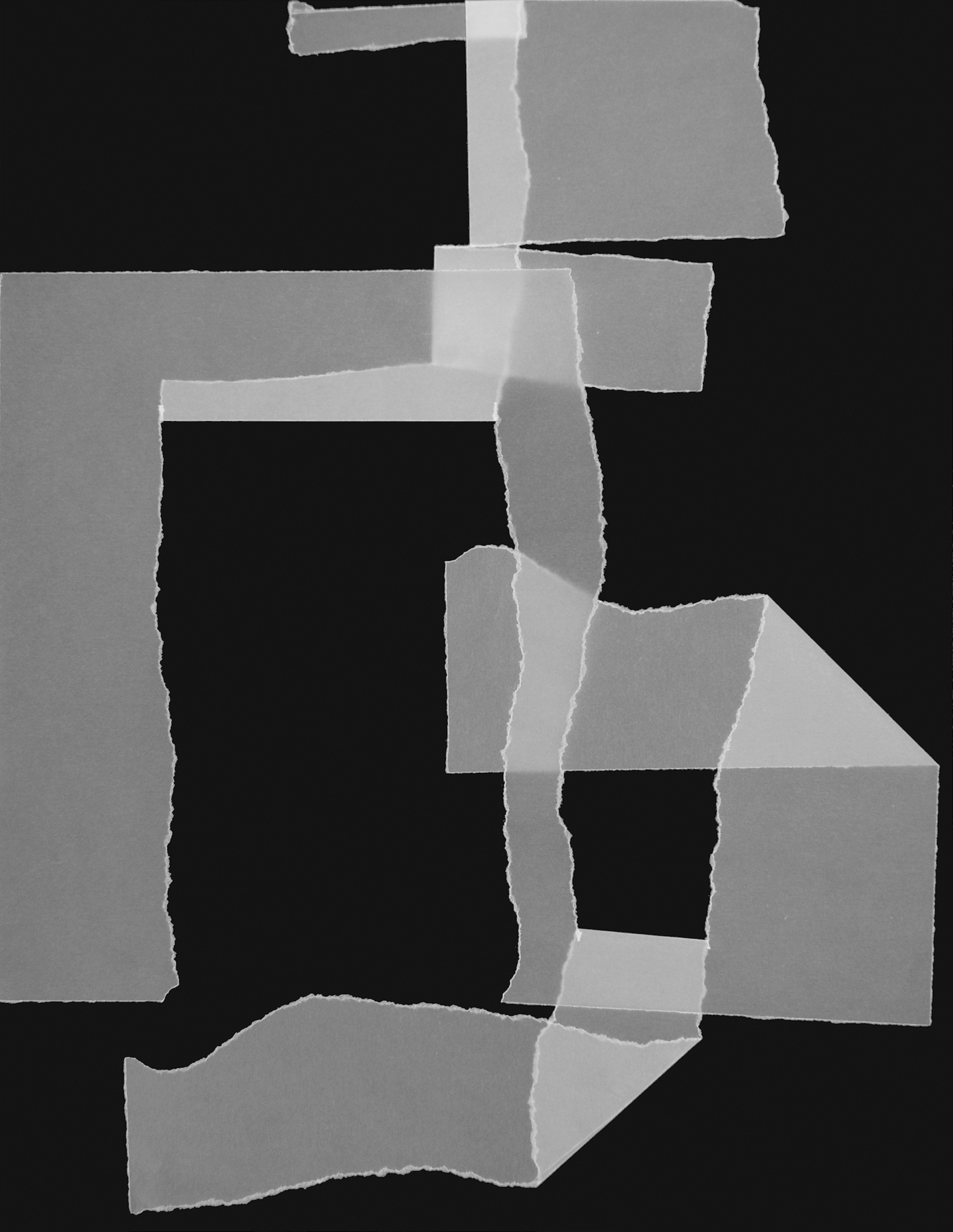 9. motiv, 40 x 30 cm, pergament gerissen/gefaltet