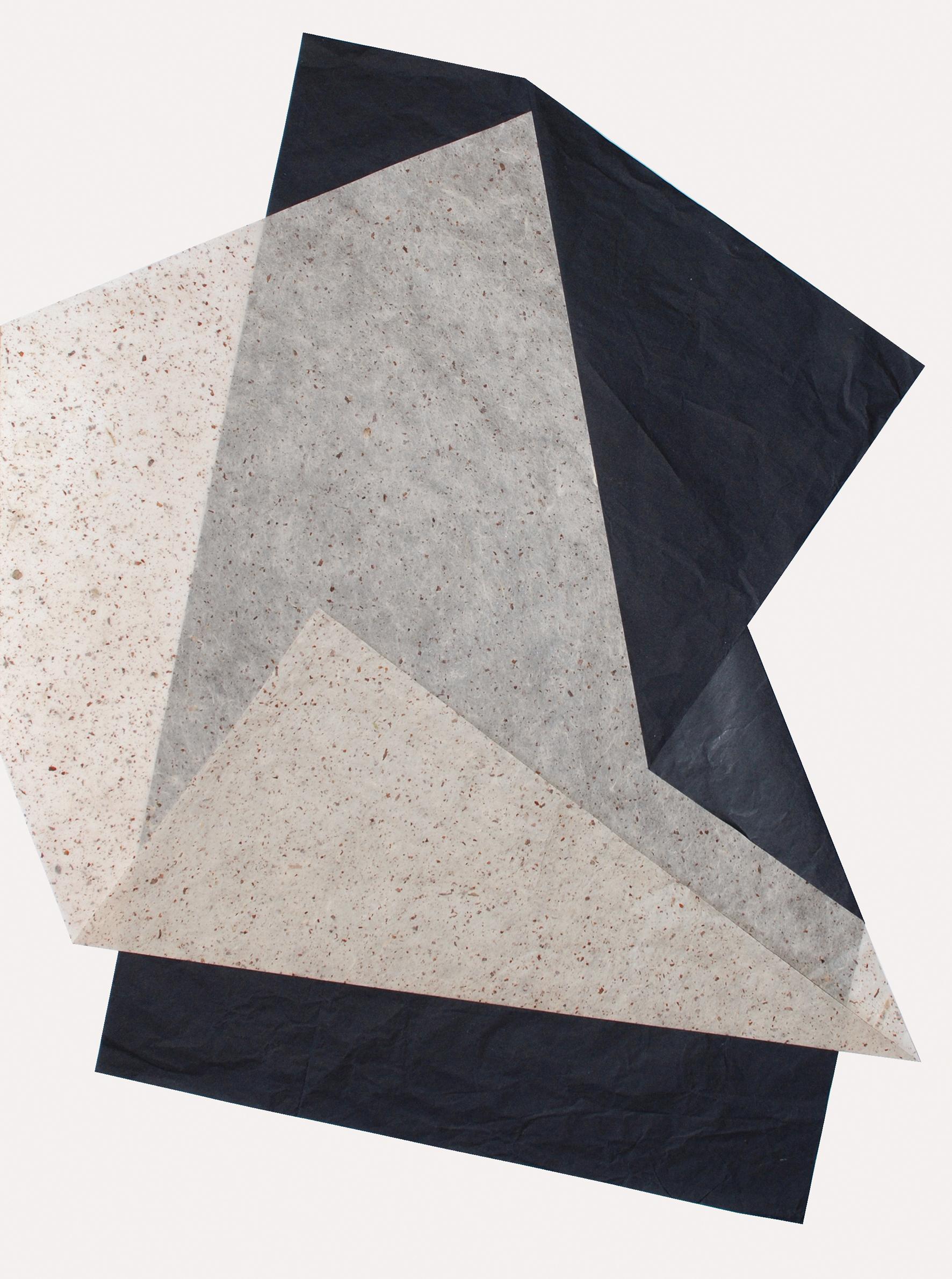 11. motiv, 80 x 60 cm, seidenpapiere gefaltet