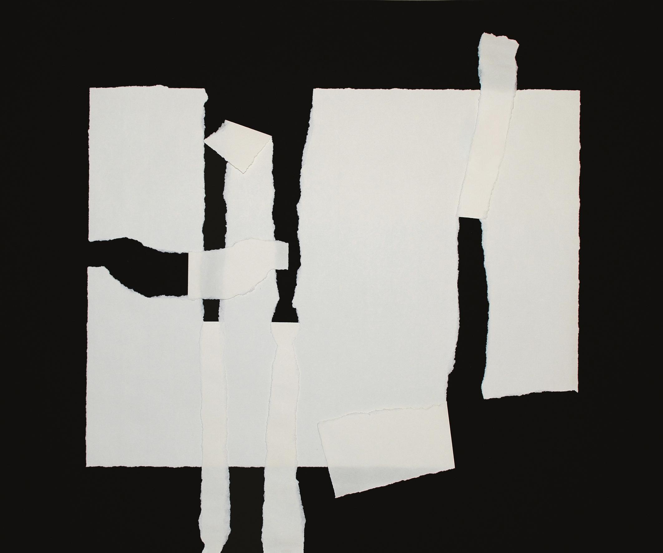 5. motiv, 50 x 60 cm, papier gerissen/gefaltet