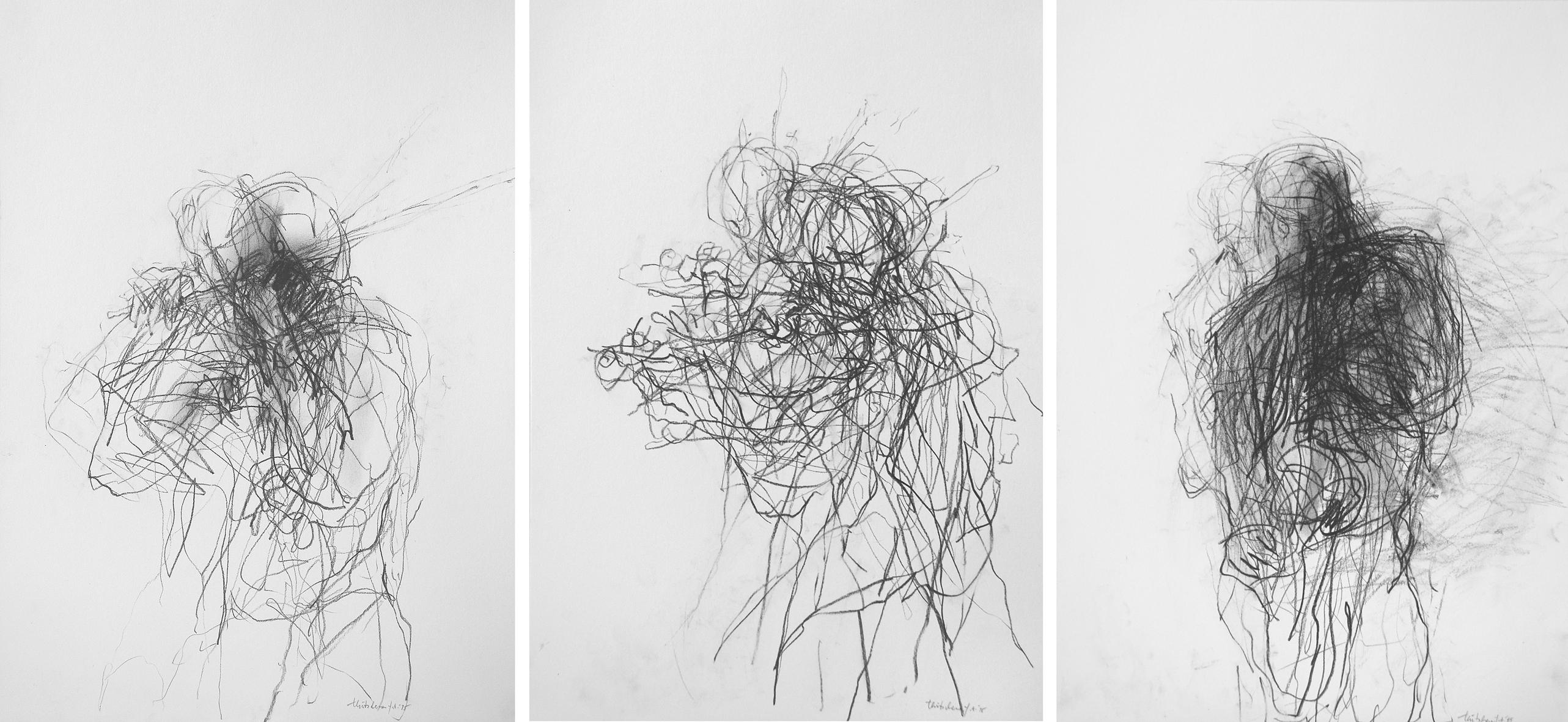 6. a/b/c motiv, je 48 x 34 cm, grafit/papier