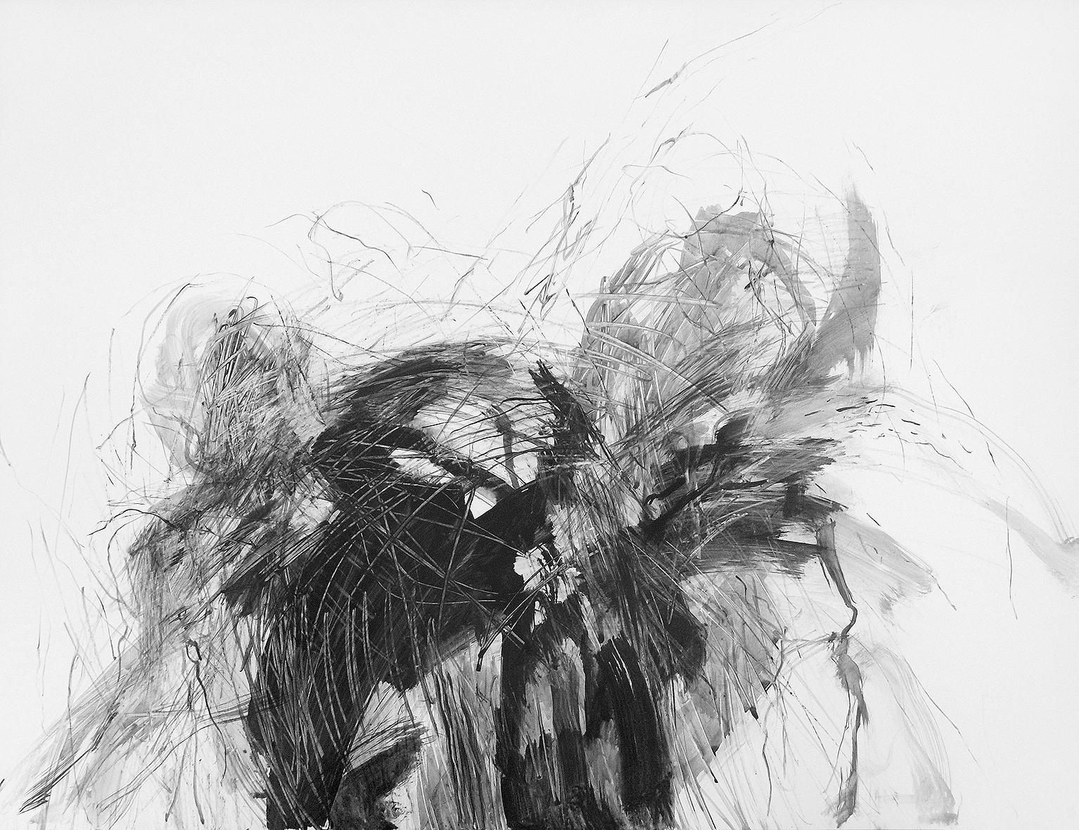 50 x 60 cm, schwarze tusche/karton